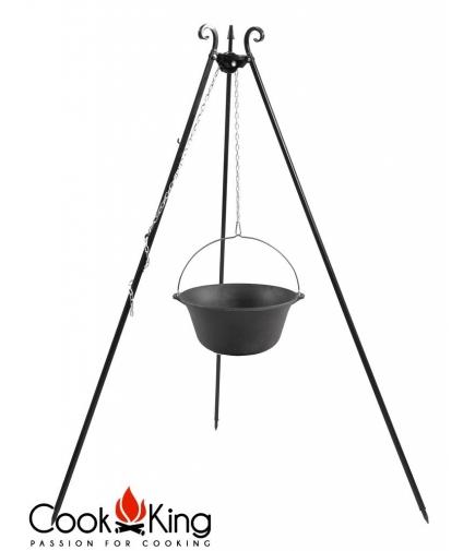 Kociołek węgierski żeliwny na trójnogu 16l