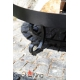 Grill stal czarna 80cm + palenisko Malta 80cm