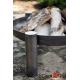 Kociołek emaliowany 10l na trójnogu 180cm + palenisko Palma 70cm