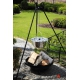 Kociołek nierdzewny 10l na trójnogu 180cm + palenisko Malta 70cm