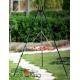 Grill nierdzewny 50cm na trójnogu 180cm + palenisko Malta 60cm