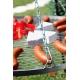 Grill ogrodowy stal nierdzewna 60cm na trójnogu 180cm