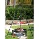 Grill nierdzewny 50cm na trójnogu 180cm + palenisko Palma 60cm