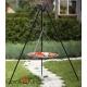 Grill stal czarna 50cm na trójnogu 180cm + palenisko Palma 60cm