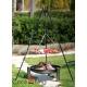 Grill nierdzewny 70cm na trójnogu 180cm + palenisko Palma 80cm