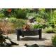 Grill nierdzewny 60cm na trójnogu 180cm + palenisko Haiti 70cm