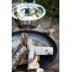 Kociołek nierdzewny 14l na trójnogu 180cm + palenisko Palma 70cm