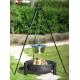 Kociołek nierdzewny 10l na trójnogu 180cm + palenisko Haiti 70cm