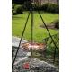 Grill ogrodowy stal czarna 80cm na trójnogu 180cm