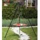 Grill ogrodowy stal nierdzewna 80cm na trójnogu 180cm