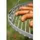 Grill ogrodowy stal czarna 80cm na trójnogu 200cm