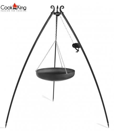 Wok 60cm na trójnogu 200 cm z kołowrotkiem