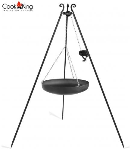 Wok 70cm na trójnogu 180cm z kołowrotkiem